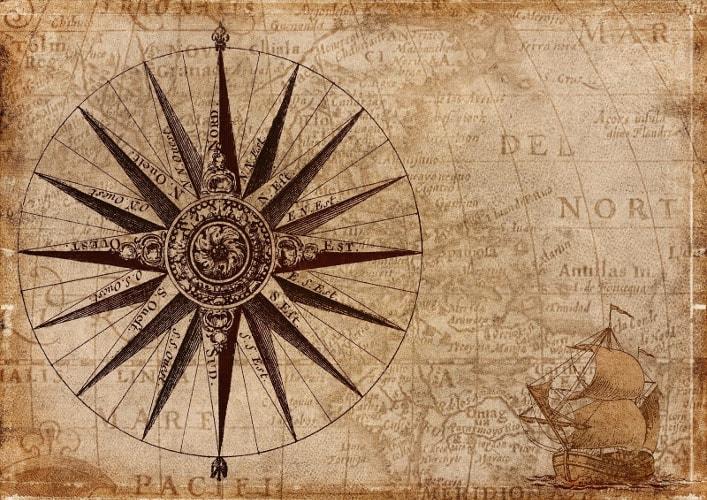 Alte Seekarte